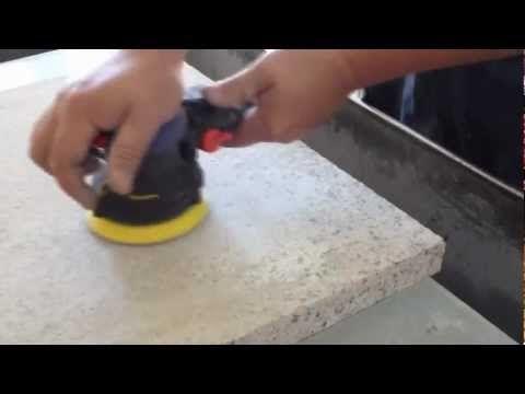 Granite Polishing By Air Random Orbital Sander Dry Diamond Sanding Pad Youtube Best Random Orbital Sander Granite Polish Sanding