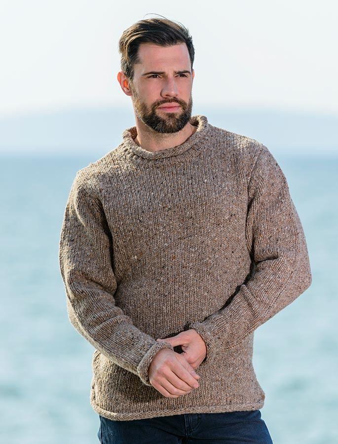 c1731566980807 Roll Neck Sweater - Fisherman Sweater - Honey