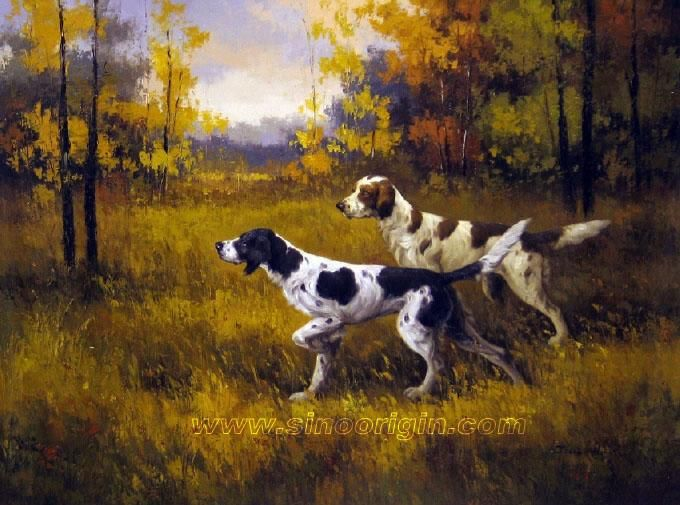 65f6788316eb hunting dogs | hunting-dog-oil-painting-05 | stuff to paint on ...
