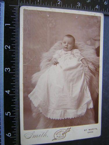 1738-Cabinet-Card-Photo-baby-long-dress-St-Marys-Ohio-Smith-ornate-back