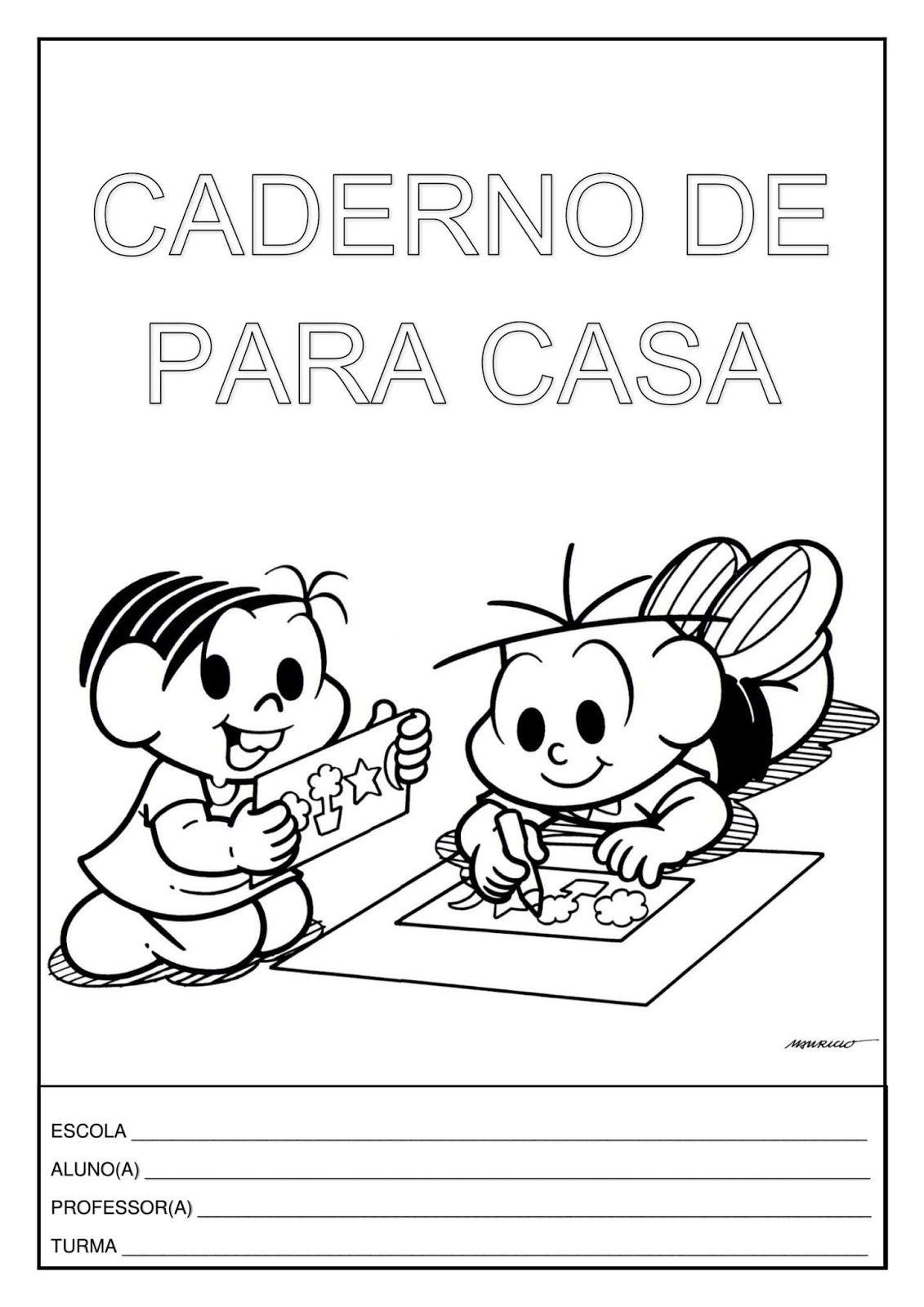 Capa De Caderno Turma Da Monica Caderno Para Colorir Capa De
