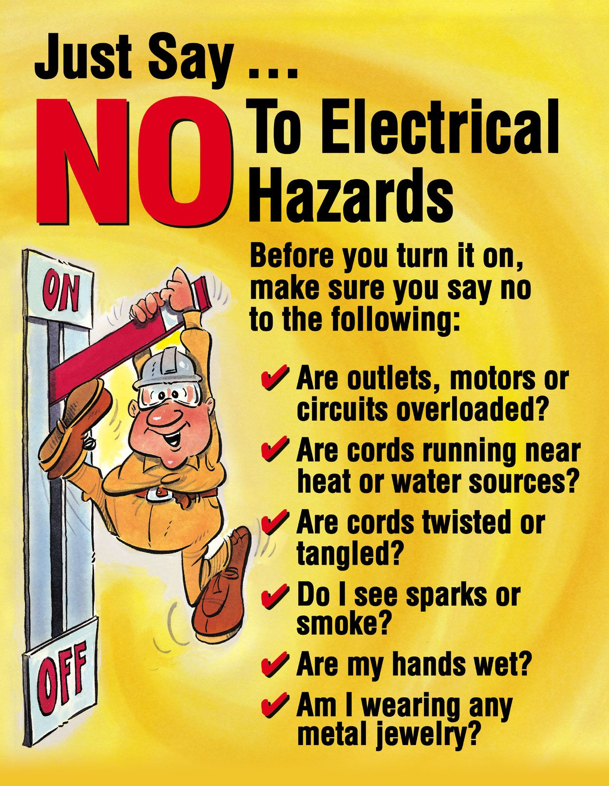 Electricity Safety Posters For Kids