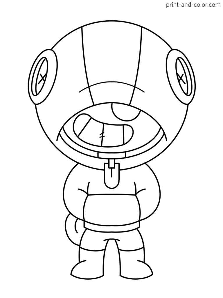 Brawl Stars coloring page character Leon | Художественные ...