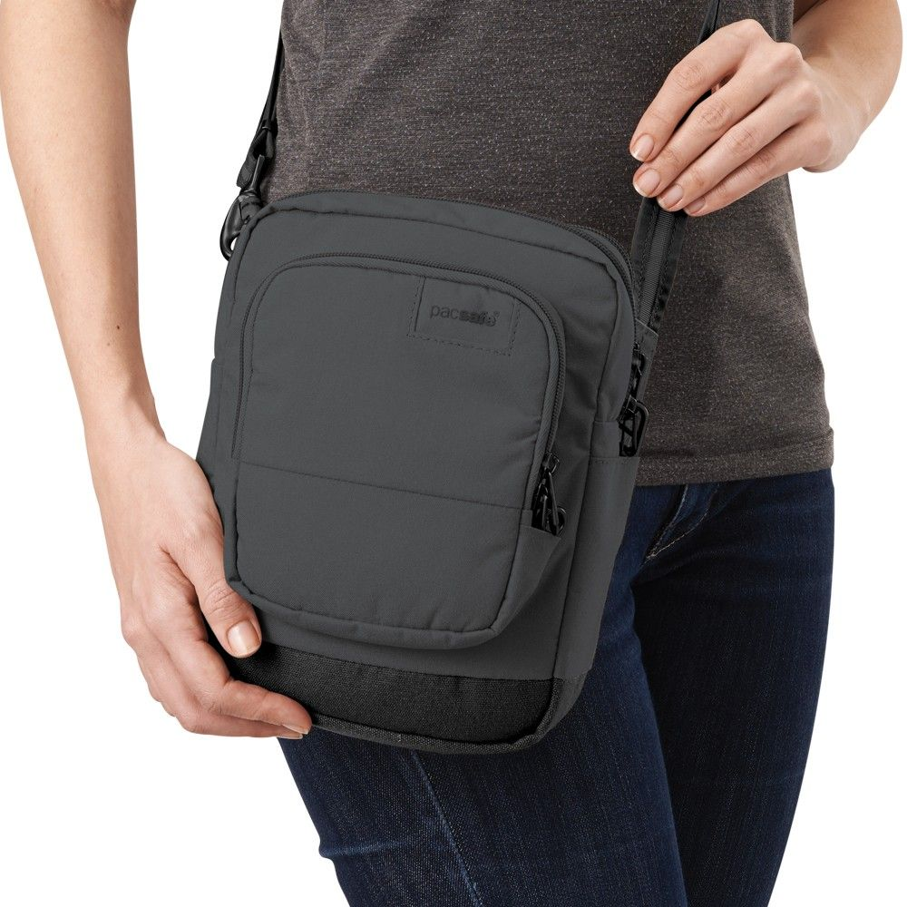 Citysafe LS75 anti-theft cross body travel bag in Black or Apricot ... a18af2224d299