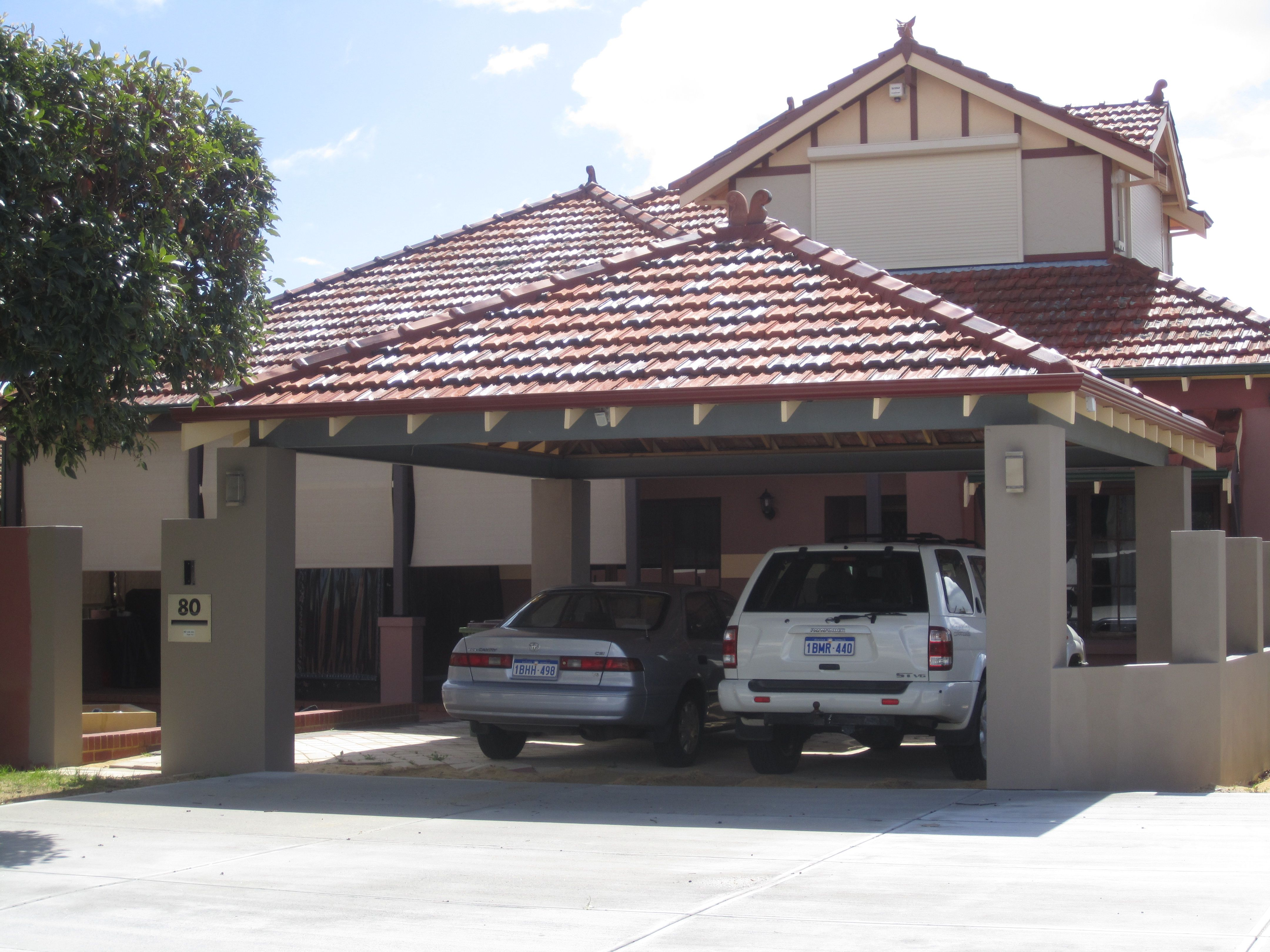Carport constructions to dream of a garden pinterest for Brick carport designs