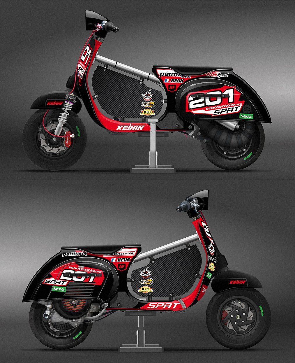 Vespa racing graphic design researches