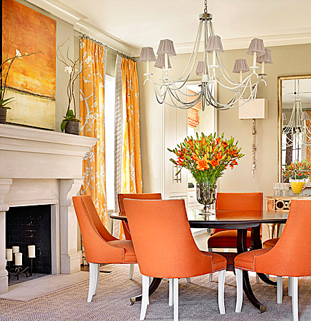 Orange is the New Black Catherine Austin dining room interior