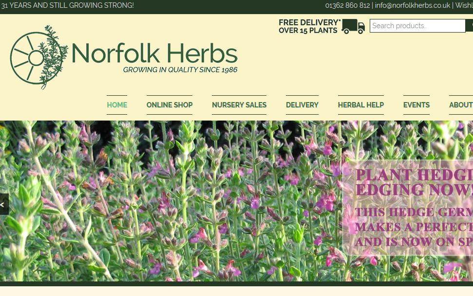 Norfolk Herbs - Buy Herbs online - Scented Pelargoniums