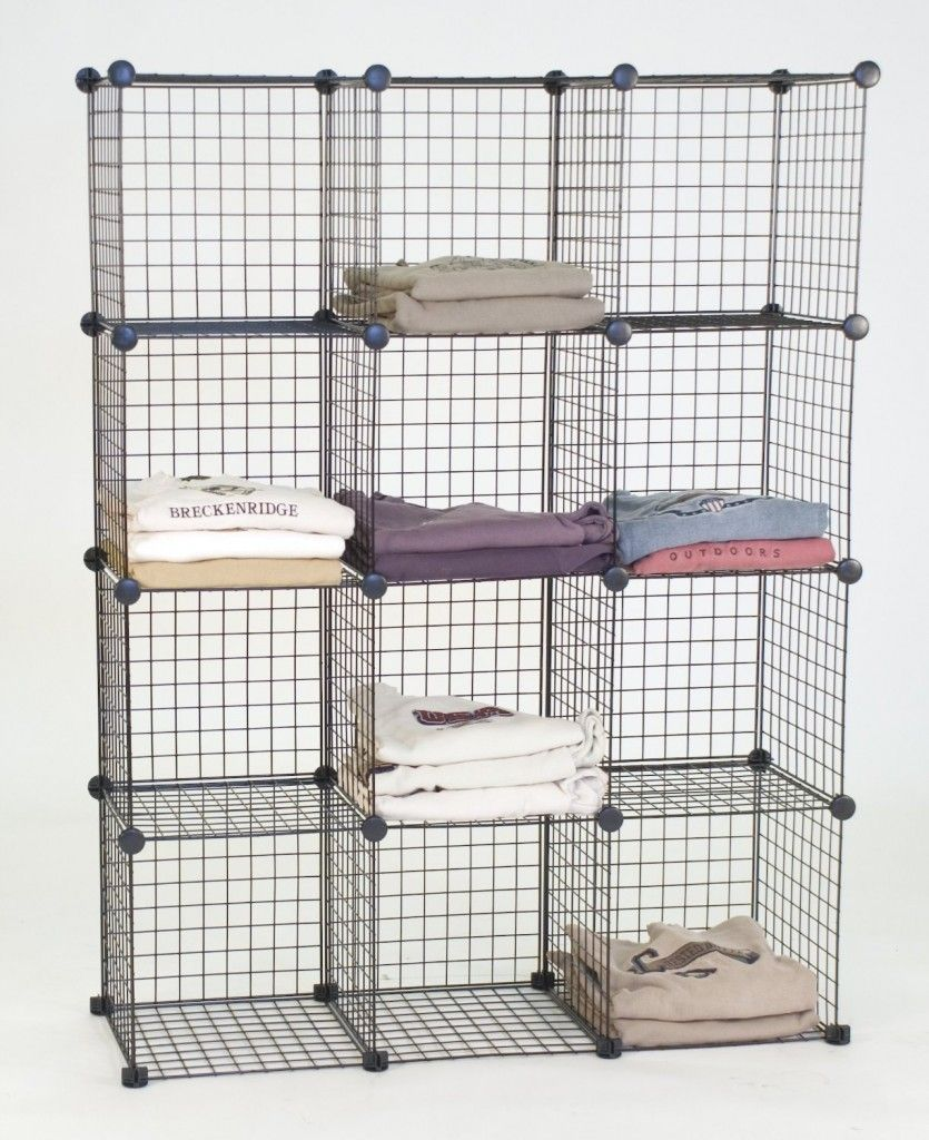 Best And Popular Black Metal 12 Wire Cubes Storage with Matching ...
