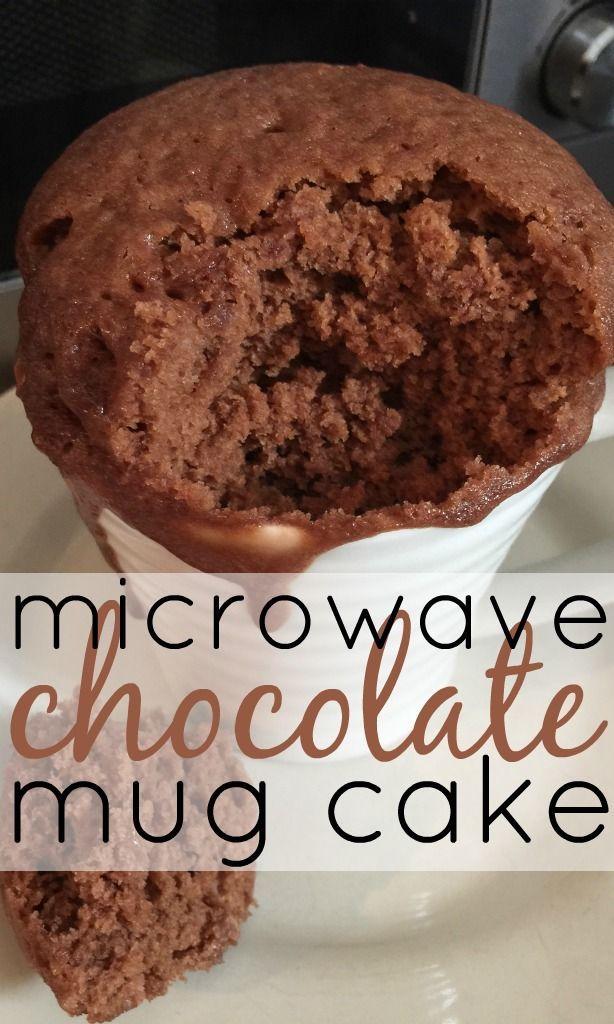Microwave Chocolate Mug Cake | Recipe | Microwave ...