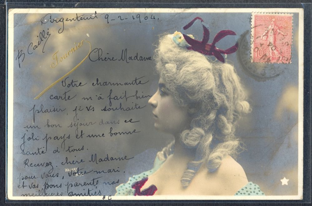 QK131 ARTIST STAGE STAR FOURNIER in PROFILE Tinted PHOTO pc WALERY | Collectibles, Postcards, Real Photo | eBay!