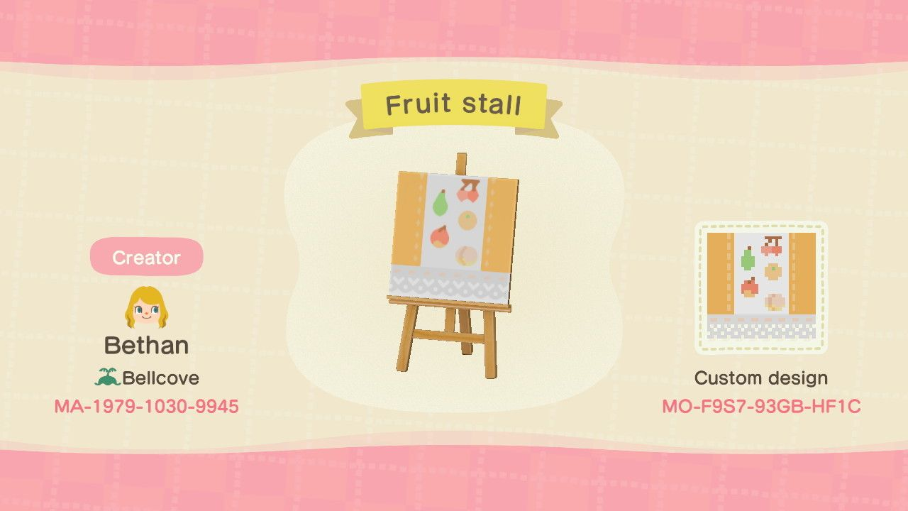 Stall Designs Animal Crossing New Horizons
