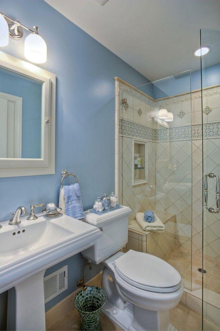 How To Make A Small Bathroom Look Bigger Tips And Ideas Traditional Bathroom Small Bathroom Small Bathroom Colors