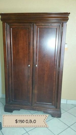 Cherry Wood Tv Armoire Closet In Fort Worth Tx Sells For 100