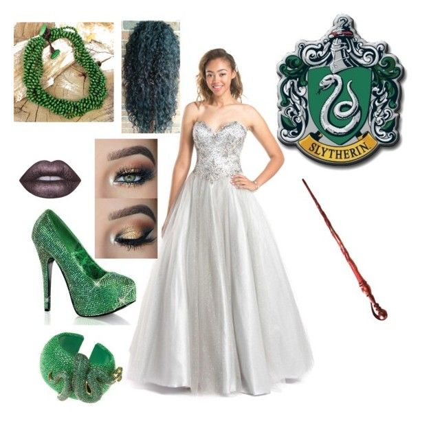 """""""Slytherin"""" by renee-lowrimore on Polyvore featuring COYA Collection, Bordello, Latelita, Lime Crime and NOVICA"""