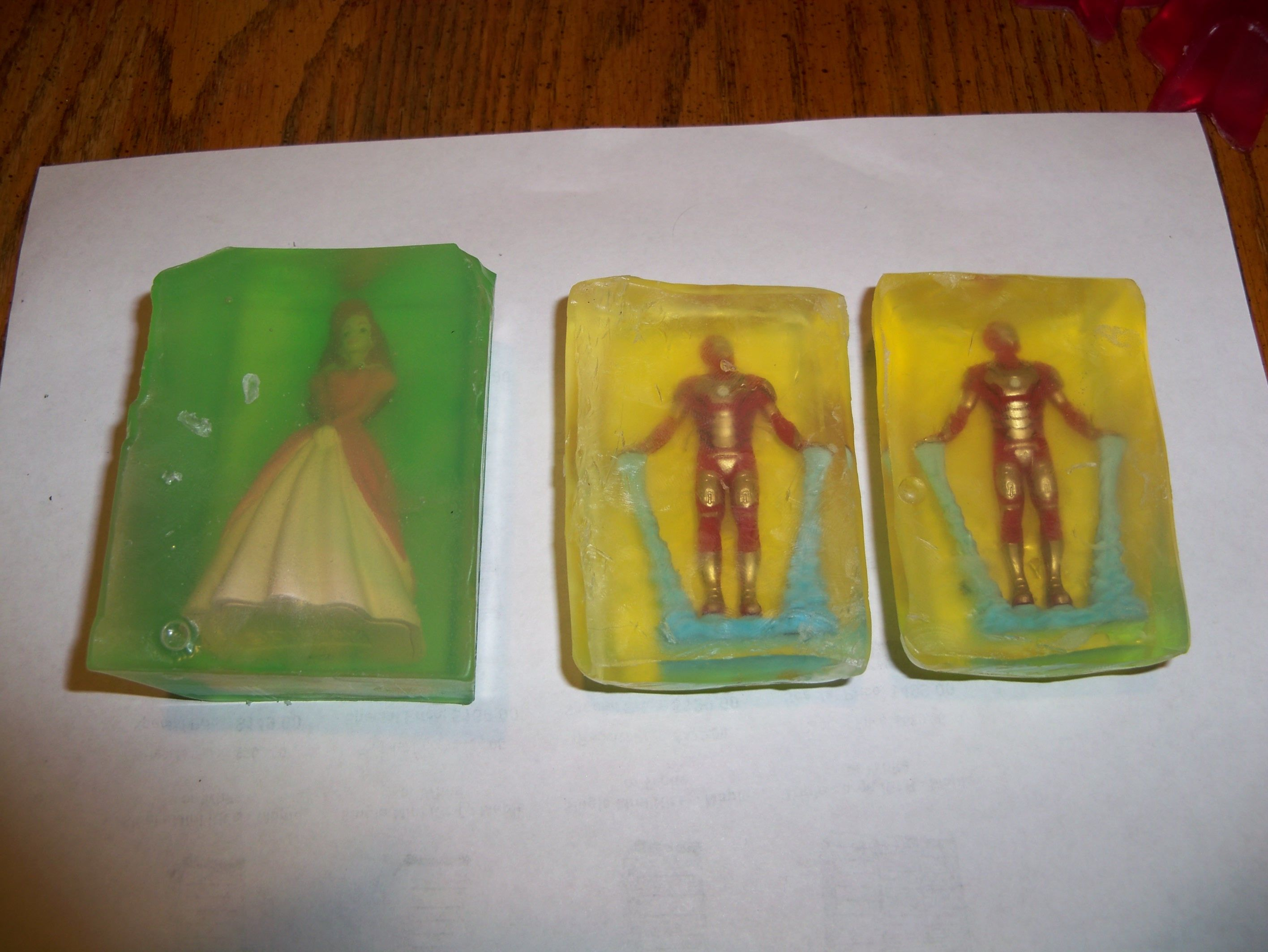 Had fun making embedded soaps for nieces and nephews