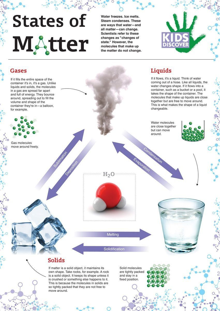 State Of Matter Worksheet Changes In The State Of Matter Infographic Download In 2020 Matter For Kids States Of Matter Matter Science