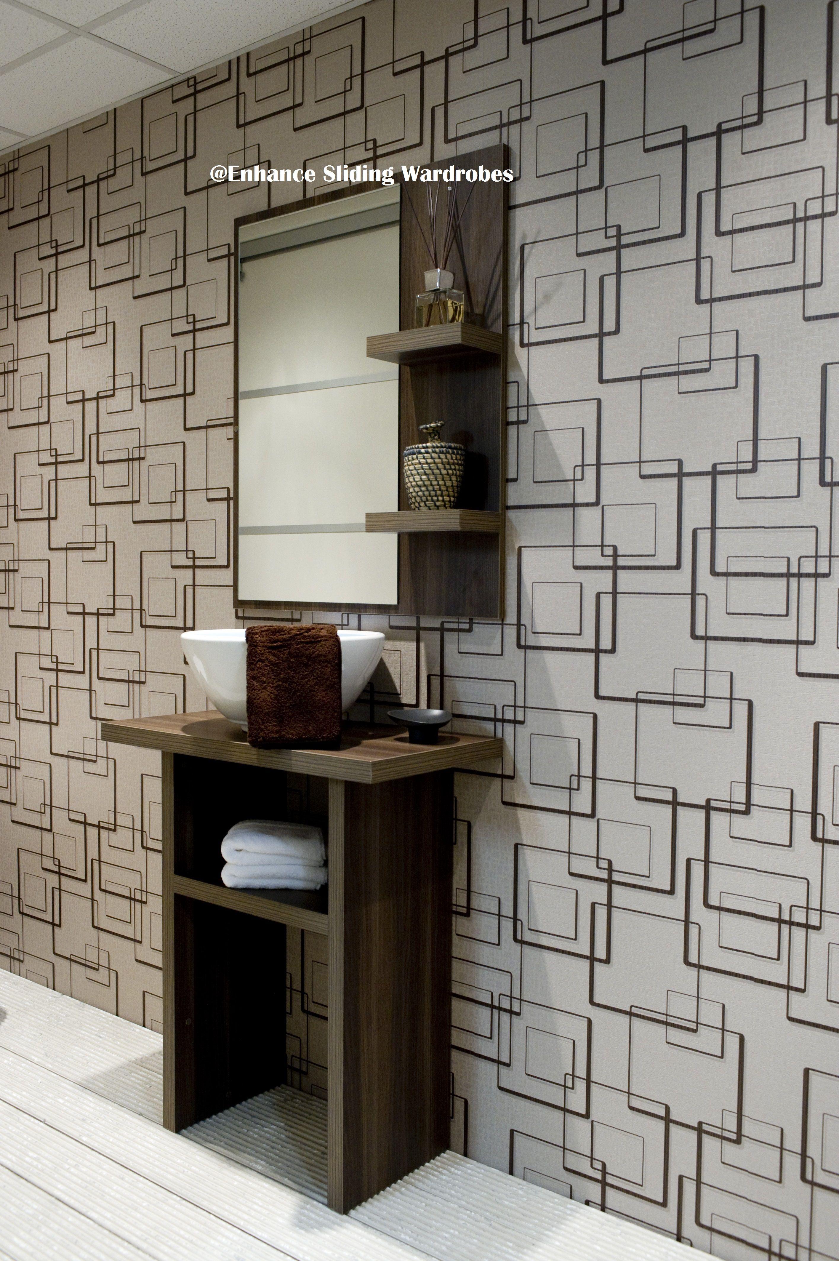 Samara sink and vanity mirror bathroom storage Designed by