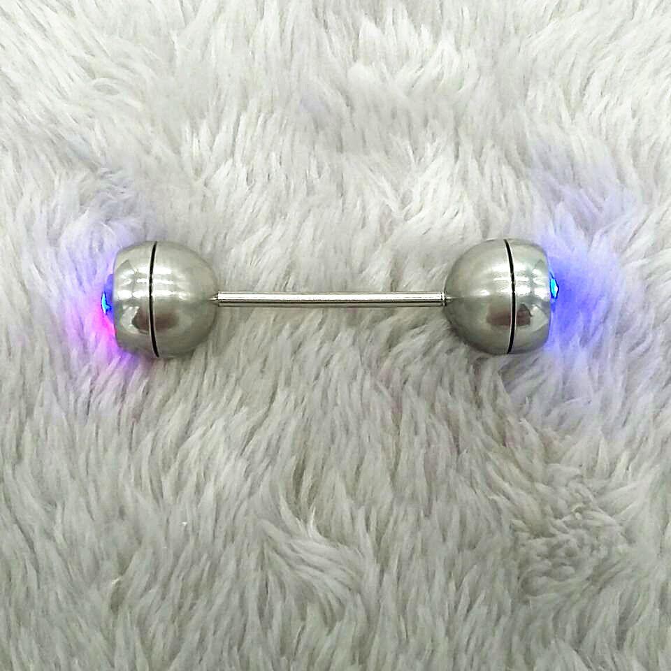 1PCS LED Glitter High Quality Dangle Nipple Piercing Shields Bars 316L  Surgical Steel Nipple Rings Body 845fd5b515e7