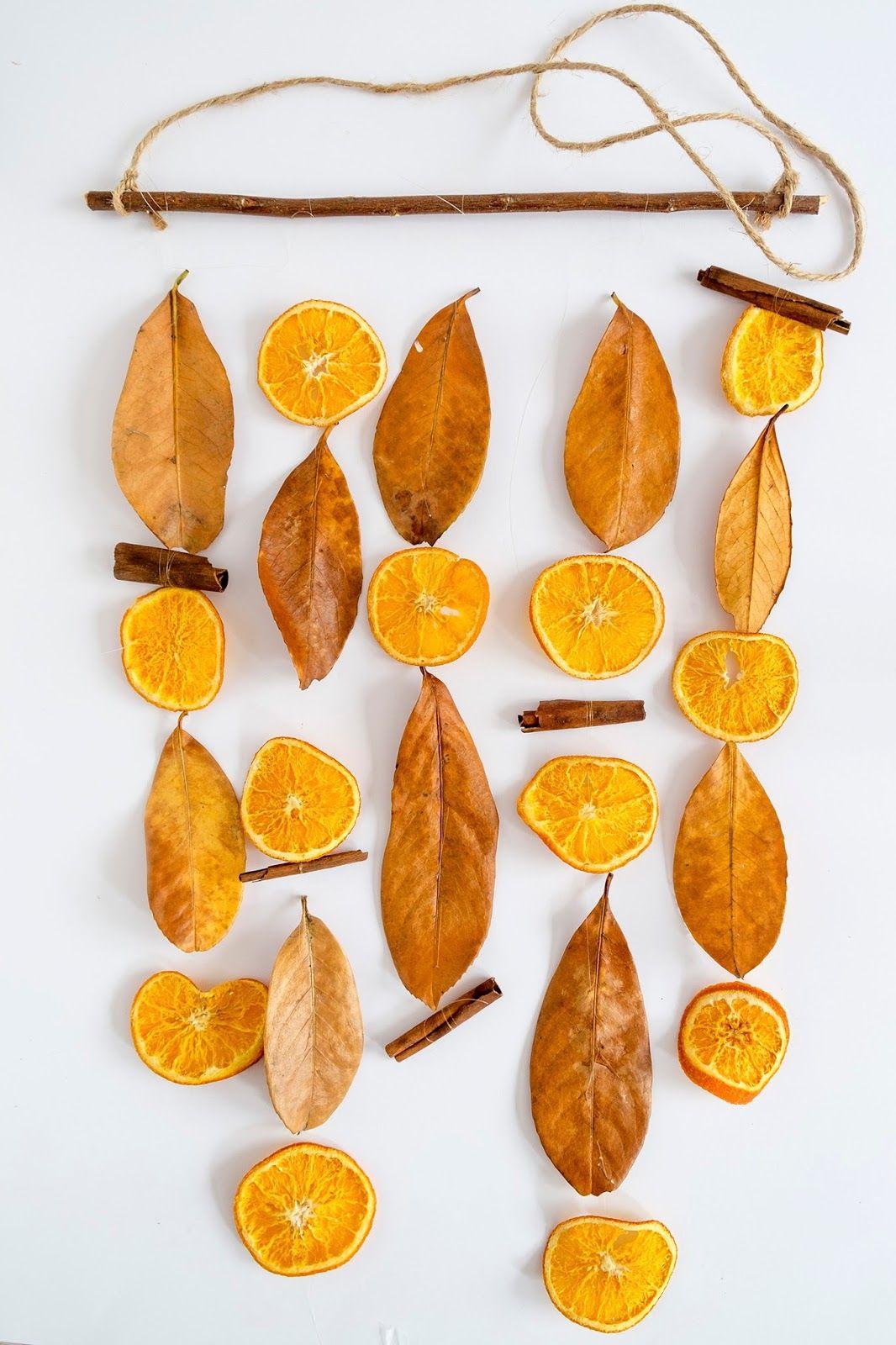Hoe maak je een garland (slinger) met gedroogde sinaasappel - Herfst decoratie #herfstdecoraties