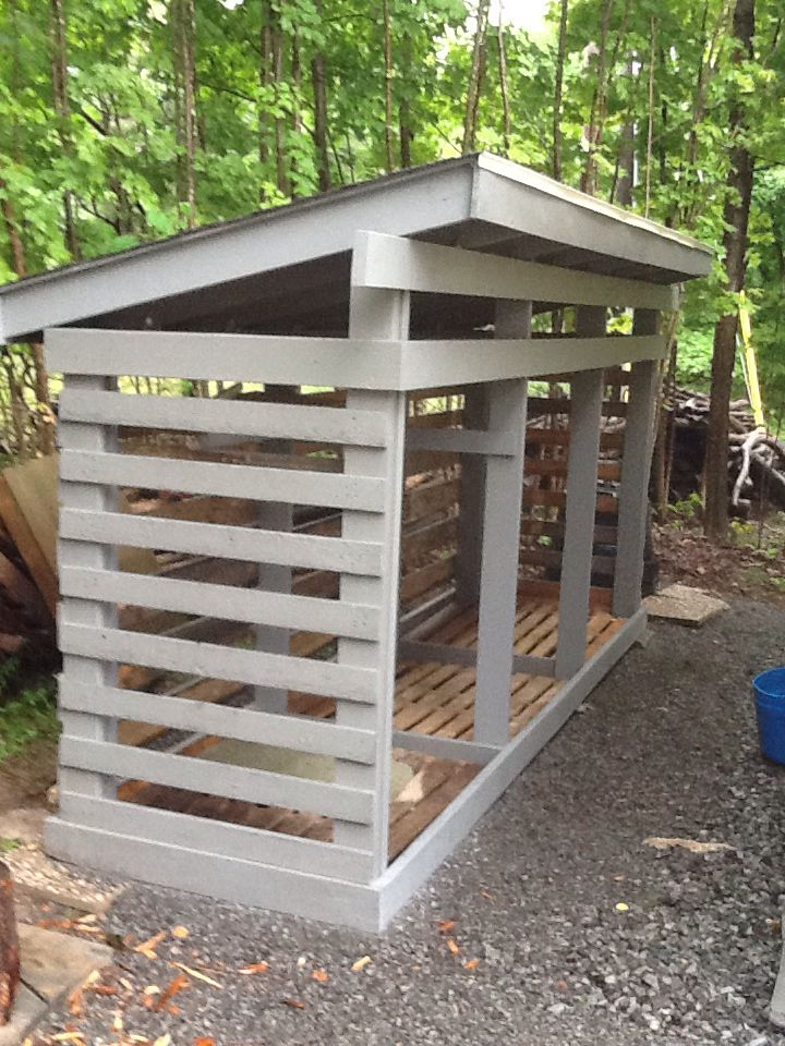 Wood Shed With Pallets Plan Abri Bois Stockage De Bois De Chauffage Abri Bois De Chauffage