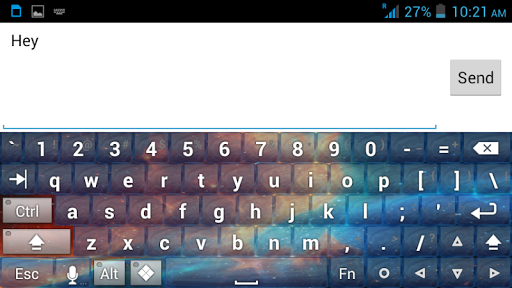 "Customize your android keyboard according to your favorite theme.. <p>Decorate your phone keyboard with colorful galaxy! <p>DOWNLOAD THIS APPLICATION FREE!!!<p>This is an amazing graphics for your smartphone with colorful galaxy and beautiful space background. <p>Choose from 8 different available Keyboard themes.<p><br>How To Install:-<p>- Follow the 4 steps:- open the application after downloading, 1. click on the ""Enable Keyboard"" button and 2. select the ""Set Input Methods"" as a 'Galaxy…"