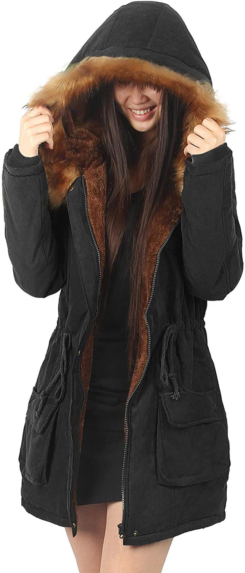 10 Warm Winter Coats Under 100 In Every Style Color Womens Hooded Coat Stylish Winter Jacket Faux Fur Jacket [ 1932 x 828 Pixel ]