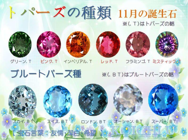 ☆11月の誕生石はトパーズです☆ - ☆寶石(ルース)の魅力 kkkttt0722 ☆(畫像あり)   誕生日石, 誕生石, 寶石
