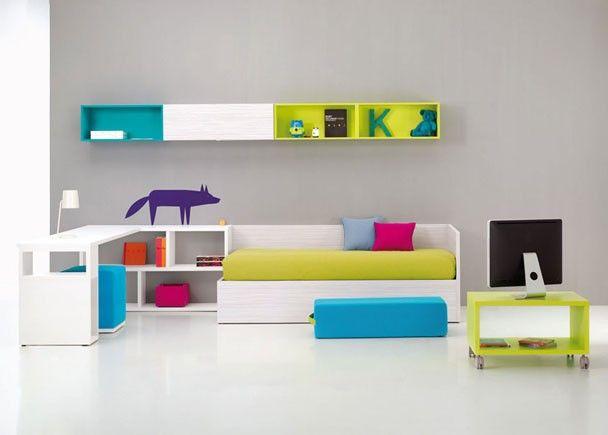 Habitaci n juvenil con cama canap abatible dormitorios - Habitacion juvenil cama abatible ...