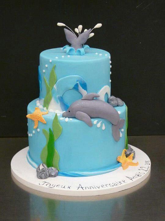 Groovy Dolphins Found My Birthday Cake Taart Dolfijnen Koken Funny Birthday Cards Online Alyptdamsfinfo