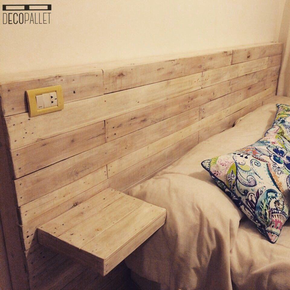 RESPALDAR DE CAMA CON MESAS DE LUZ FLOTANTES | dormitorio ...
