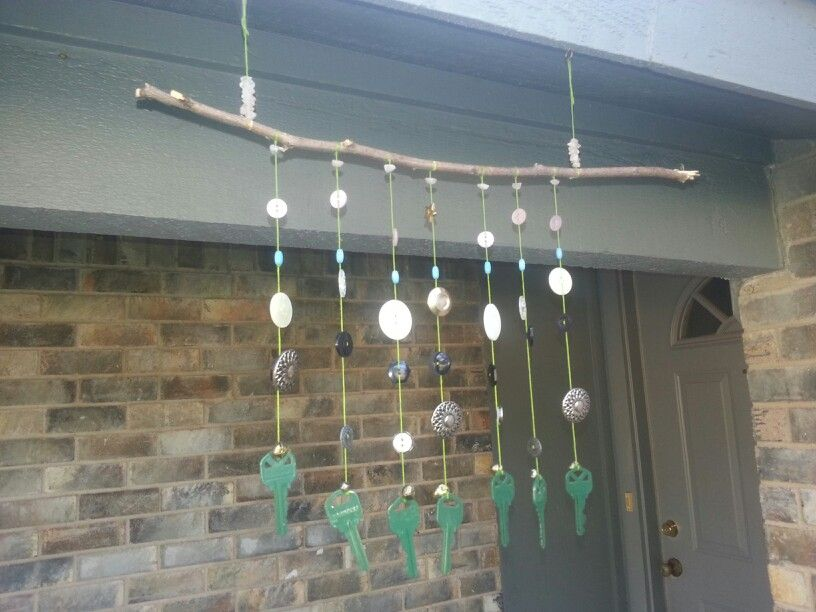 Old Ons Painted Keys On String Tied To A Stick Keeps The Birds Off Our Porch Light Didnt Cost Dime Make