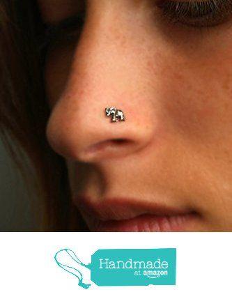 Elephant Nose Stud Nose Ring Sterling Silver Choose Your Gauge