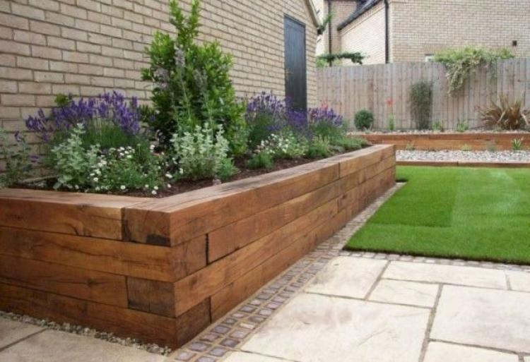 Admirable Modern Front Yard Landscaping Ideas Wooden Garden Edging Modern Garden Backyard Landscaping