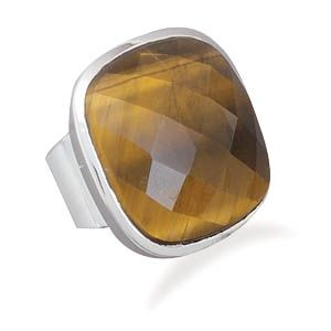 Square Tigers Eye Ring Tiger Eye Jewelry Designs Pinterest