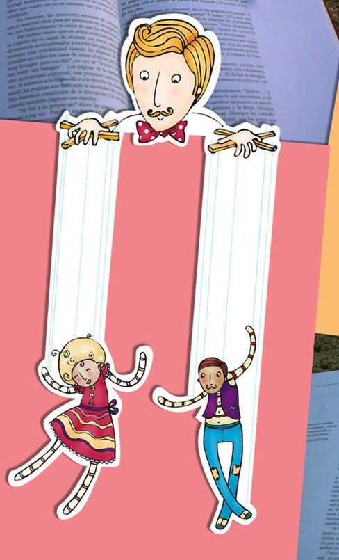 Bookmark design and illustration by Luciana Carossia