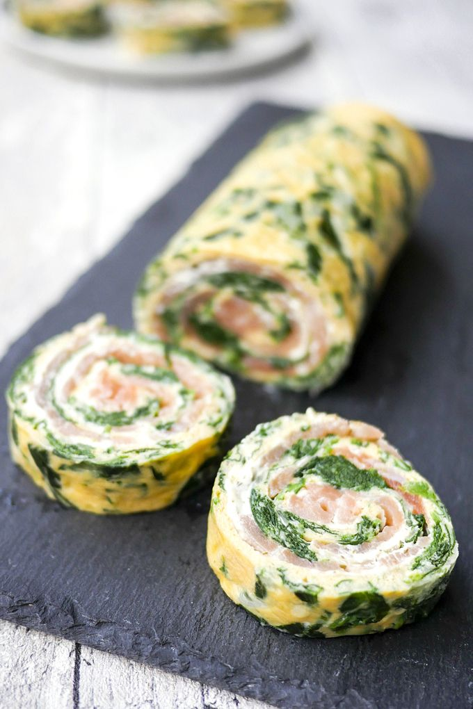 Low Carb Spinat-Lachs-Rolle #fingerfoodrezepteschnelleinfach