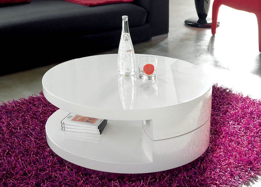 Modern Round Swivel Coffee Table 32 W X D 14 H 349