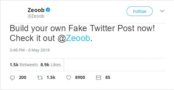 Fake tweet generator 2019 -Generate Fake Tweets for PC