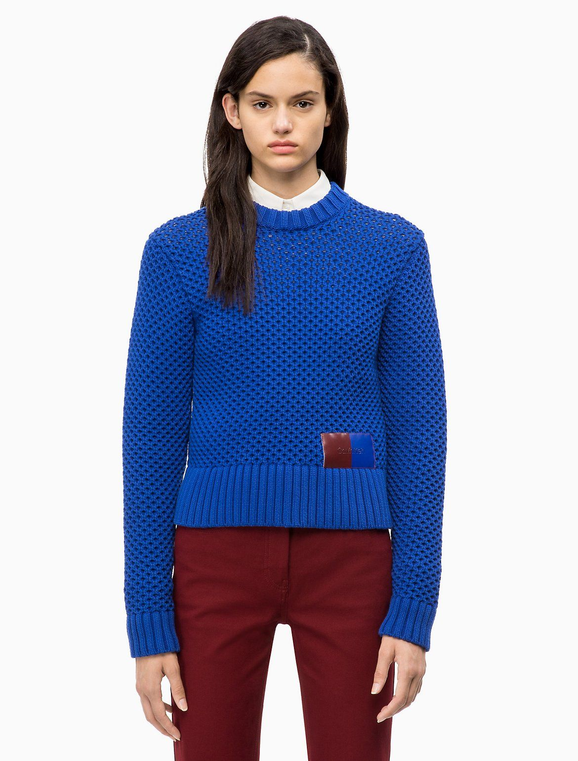 Photo of Cotton Blend Honeycomb Sweater | Calvin Klein