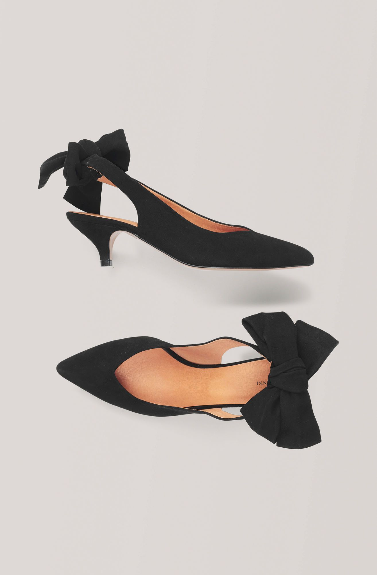Ganni Us Bow Kitten Heel Pumps 140 00 2020 Stil Trendler