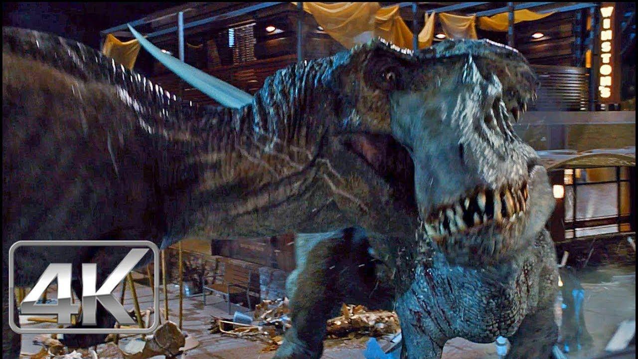 TRex Vs Indominus Rex LATINO (4KHD) Jurassic World