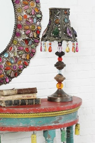 vintage wall light flowers branches | Home > Chandeliers - Lamps - Lighting > Table Lamps - Beaded - Metal ...