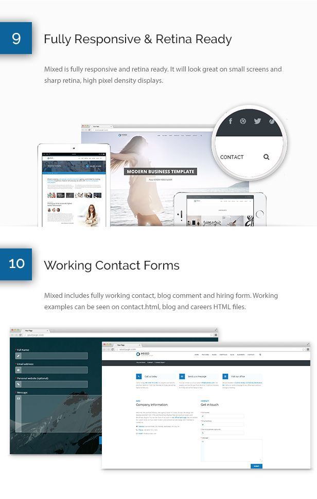 Mixed modern and professional html template template and graphics mixed modern and professional html template mixed is modern and professional business html5 template it is fully responsive and comes with retina ready friedricerecipe Gallery