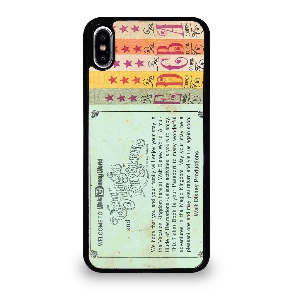 World Disney Ticket Book Iphone Xs Max Case Cover Ipod Touch 6