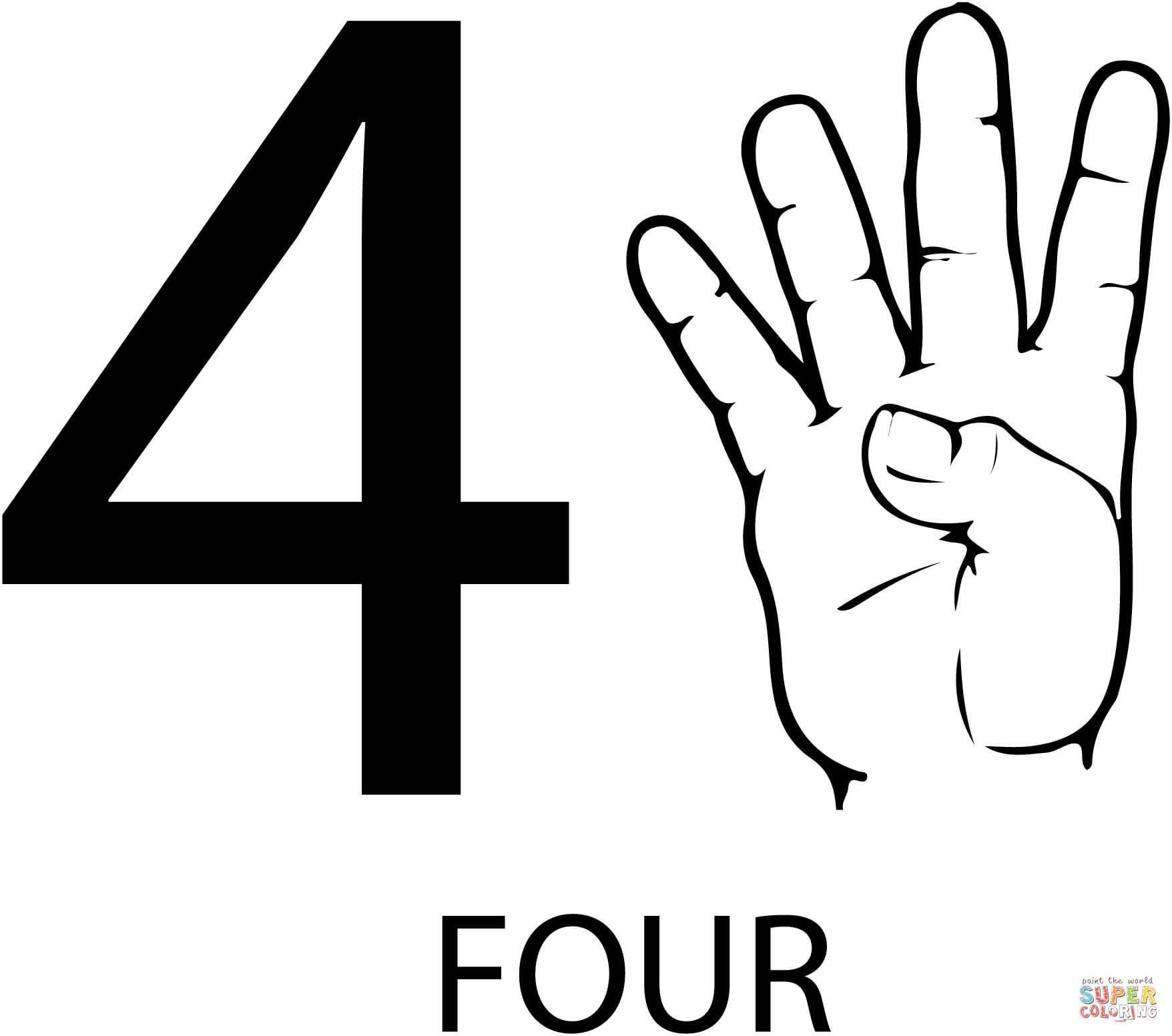 Asl Number Four