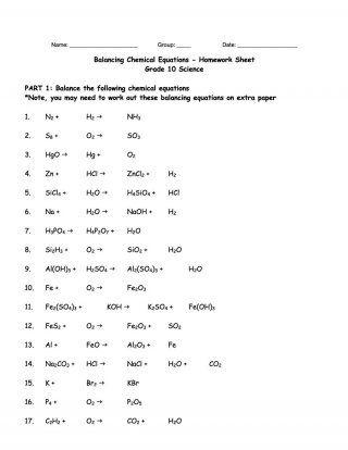 Homework help balancing chemical equations html