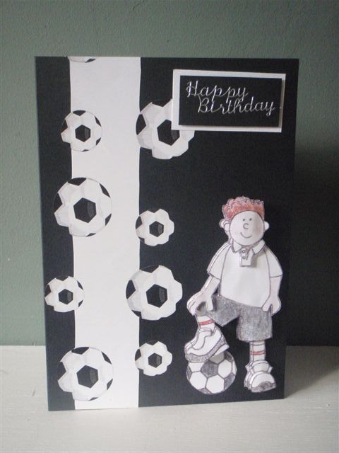 Birthday card cards pinterest cards xmas and scrap birthday card football birthdaycards to makebirthday bookmarktalkfo Gallery