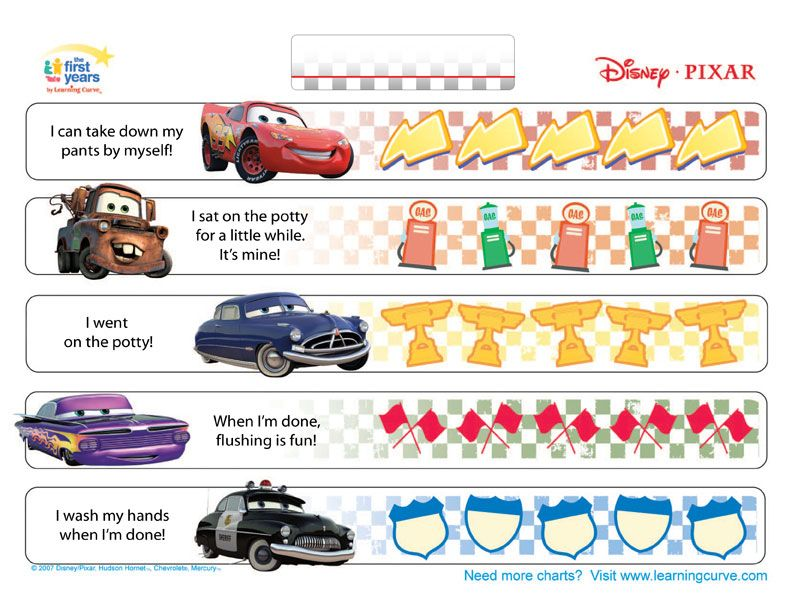 potty training chart printable cars Cars Potty Training Chart - potty training chart