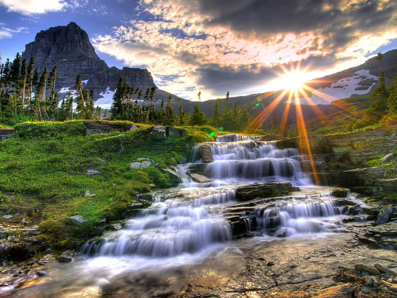 Misty Mountain Waterfall~